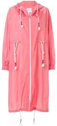 Mira Mikati mid-length drawstring rain coat