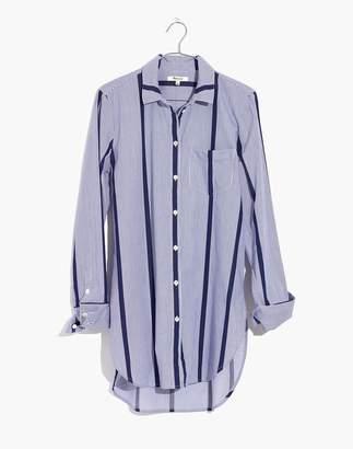 Madewell Striped Button-Down Tunic Shirt