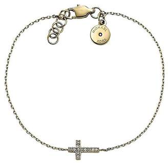 Michael Kors Gold Tone Brilliance Motifs Sideways Cross Chain Bracelet Mkj4056
