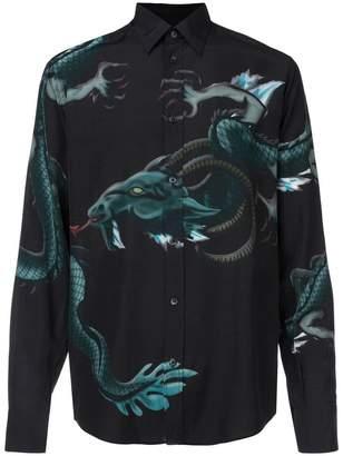 Givenchy Capricorn dragon-print shirt
