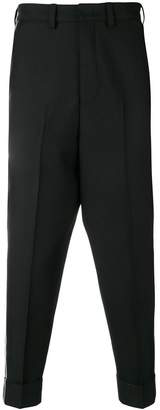 Pt01 drop crotch tapered trousers