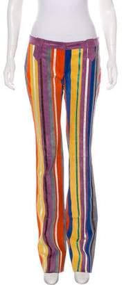 Dolce & Gabbana Leather Wide-Leg Pants