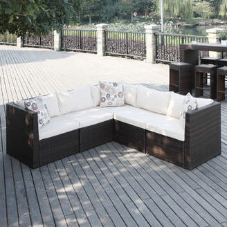 Mercury Row Lachesis Patio Sectional with Cushions