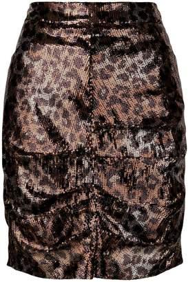 06f8525dab MSGM sequin leopard skirt