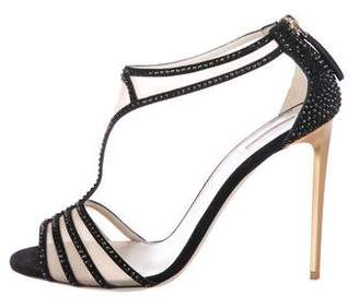Giorgio Armani Embellished Suede Sandals