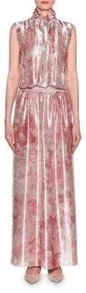 Giorgio Armani Mock Neck Printed Gown