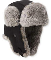 Men's Fur-Trim Camelhair Trapper Hat