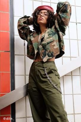 Urban Renewal Vintage Remade Cropped Vintage Camo Jacket
