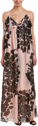 Trina Turk Classified Silk Maxi Dress