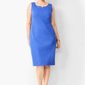 Talbots Split-Neck Refined Ponte Sheath Dress - Solid
