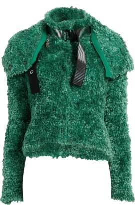 Emporio Armani Shearling Crop Jacket