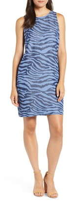 Tommy Bahama Zebra Print Chambray Shift Dress
