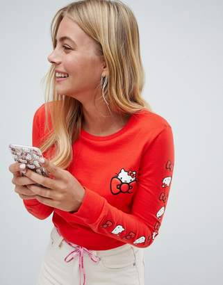 Converse X Hello Kitty Red Long Sleeve T-Shirt