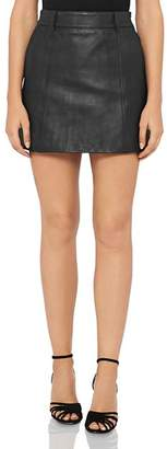 Reiss Mimi Leather Mini Skirt