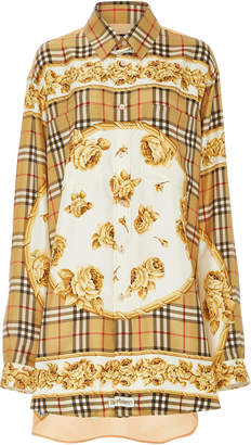 Burberry Printed Silk Button-Up Blouse