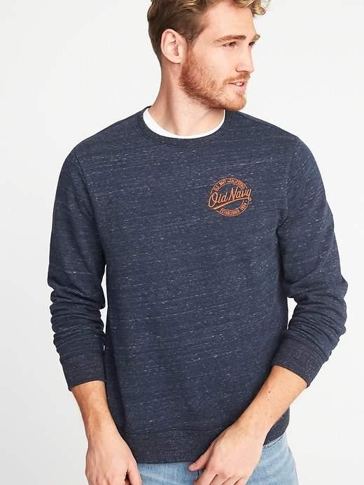 Logo-Patch Fleece Sweatshirt for Men