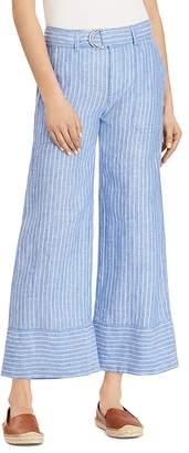Lauren Ralph Lauren Linen Wide-Leg Crop Pants - 100% Exclusive