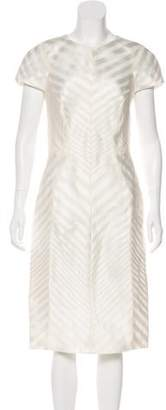 J. Mendel Semi-Sheer Midi Dress w/ Tags