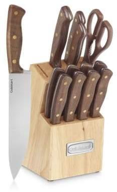 Cuisinart Advantage 14-Piece Triple-Rivet Cutlery Set and Wood Storage Block