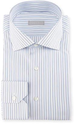 Stefano Ricci Double-Stripe Cotton Dress Shirt