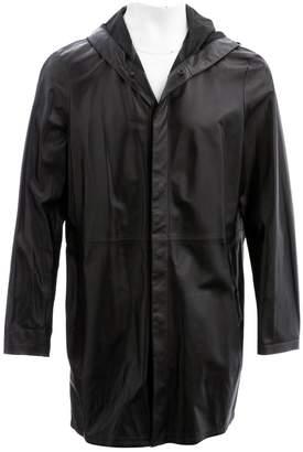 Emporio Armani Black Leather Coats