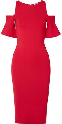 MICHAEL Michael Kors Cold-shoulder Stretch-knit Dress - Red