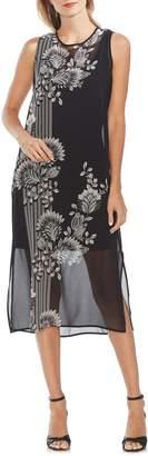Vince Camuto Ornate Melody Chiffon Shift Dress