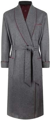 Daniel Hanson Piped Cashmere Robe