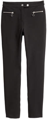 H&M Dressy Slim-fit Pants - Black