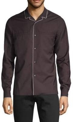 Valentino Long-Sleeve Button-Down Shirt