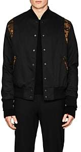 Barneys New York Golden Bear x GOLDEN BEAR X MEN'S CAMOUFLAGE-ACCENTED BOMBER JACKET - BLACK SIZE L