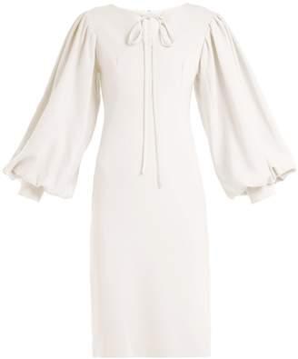 Osman Maxine blouson-sleeve midi dress
