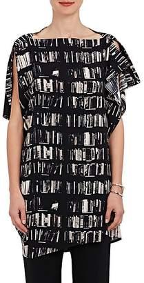 Zero Maria Cornejo Women's IQ Book-Print Stretch-Silk Tunic - Black