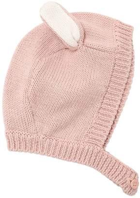Stella McCartney Bunny Ears Cotton Blend Knit Hat