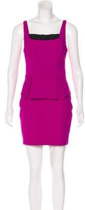 Robert Rodriguez Sleeveless Peplum Dress
