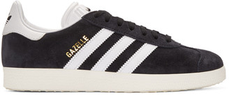 adidas Originals Black OG Vintage Gazelle Sneakers $90 thestylecure.com