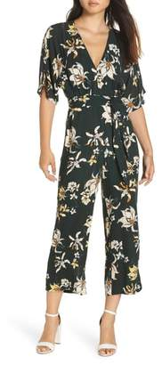 Knot Sisters Ruby Floral Print Jumpsuit