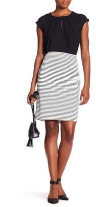 Kasper Striped Pencil Skirt