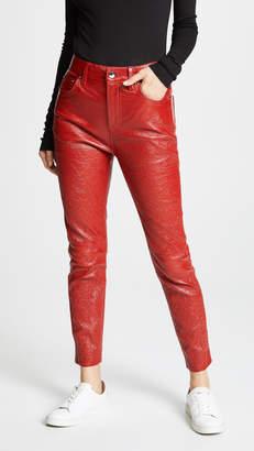 Derek Lam 10 Crosby Patent Leather Lou Pants