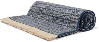 Moschino (モスキーノ) - モスキーノ フリンジ付き ウールジャカード スカーフ