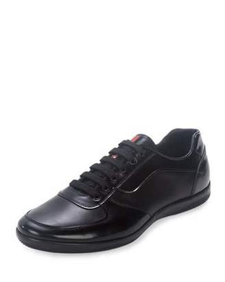 Prada Offshore Leather Sneaker, Black $620 thestylecure.com