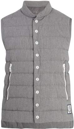 Moncler Quilted down cotton-seersucker gilet