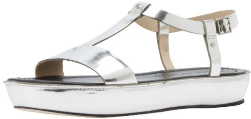 Elizabeth and James Women's E-Cree Slingback Sandal,Silver,8 M US