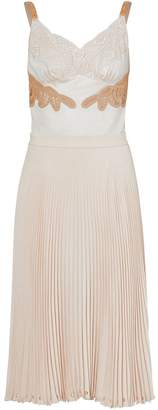 Burberry Lace Trim Cut-out Panel Slip Dress