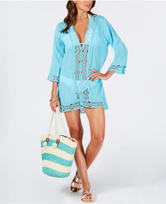 LaBlanca La Blanca Island Fare Cotton Crochet-Trim Tunic Women's Swimsuit