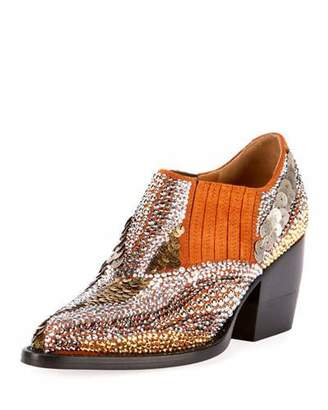 Chloé Rylee 90MM Booties with Strass Detail
