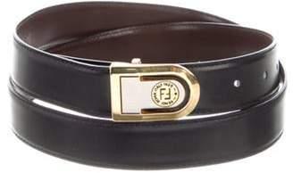 Fendi Vintage Leather Buckle Belt Black Vintage Leather Buckle Belt