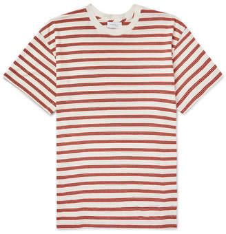 John Elliott Striped Bouclé Cotton-Blend T-Shirt