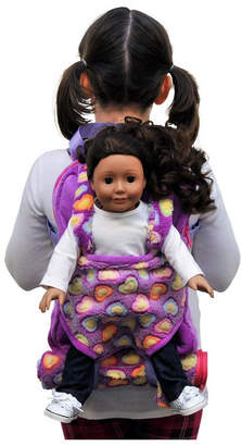 The Queen's Treasures Purple Child's Backpack with Doll Carrier and Doll Sleeping Bag