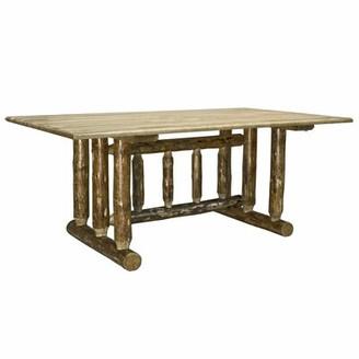 Loon Peak Tustin Trestle Solid Wood Dining Table Loon Peak